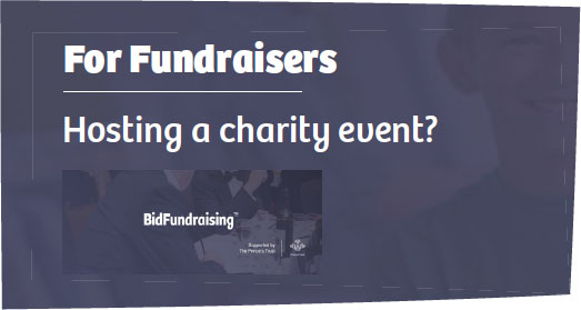 For fundraisers - hosting a charity event?