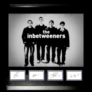 The Inbetweeners Signed Presentation Framed