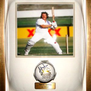 Sir Ian Botham Signed Cricket Ball Glass Dome Framed