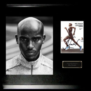 Mo Farah Signed Presentation Framed