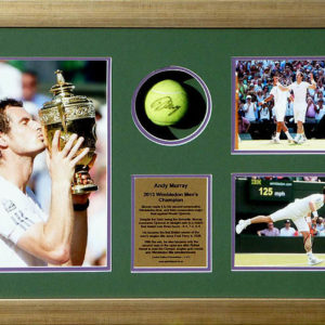 Andy Murray Signed Tennis Ball Glass Display Presentation