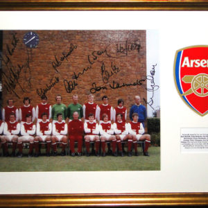 Arsenal FC Multi Signed Double Winners 1971/72 Presentation Framed
