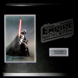 Star Wars James Earl Jones Darth Vader Signed Presentation Framed