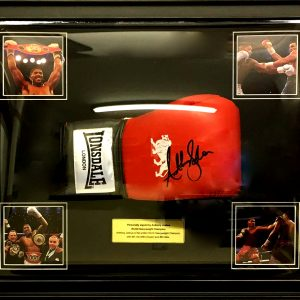 Anthony Joshua Signed Boxing Glove Dome Presentation