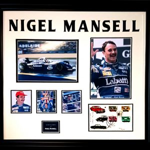 Nigel Mansell Signed Presentation Framed