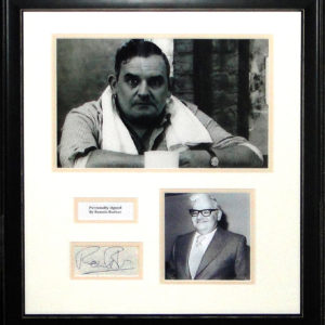 Ronnie Barker (1929-2005) Signed Presentation Framed