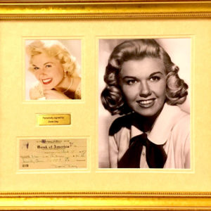 Doris Day Signed Presentation Framed