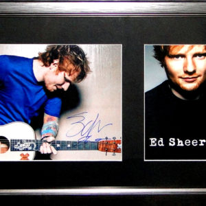 Ed Sheeran Signed Presentation Framed