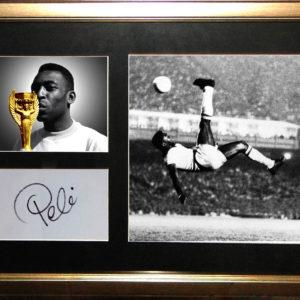 Pelé Signed Presentation Framed