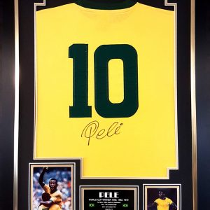Pelé Signed Shirt Presentation Framed