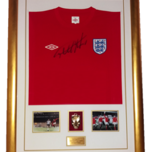 Sir Geoff Hurst 1966 England Signed Shirt Presentation Framed