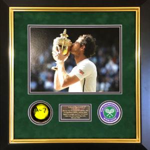 Andy Murray Signed Tennis Ball Glass Display Presentation