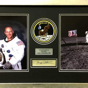 Buzz Aldrin Signed Presentation Framed