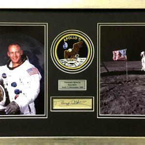 Buzz Aldrin Signed Presentation Framed