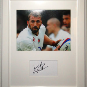 Chris Robshaw Signed Presentation Framed