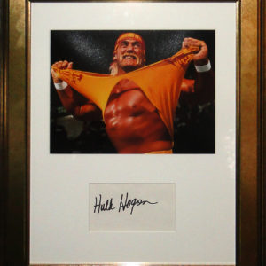 Hulk Hogan Signed Presentation Framed