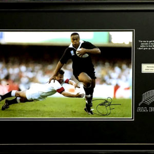 Jonah Lomu (1975 – 2015) Signed Presentation Framed