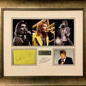 Sir Rod Stewart Signed Presentation Framed