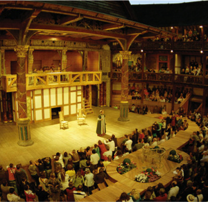 Shakespeare's Globe London Theatre Backstage Tour with 3-Course Lunch for 2 people