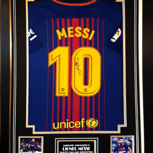 Lionel Messi Barcelona Signed Shirt Presentation Framed