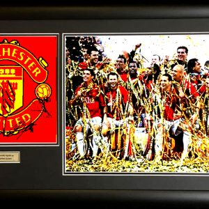 Manchester United FC with Cristiano Ronaldo Multi Signed Presentation Framed