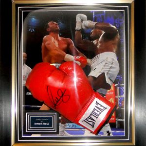 Anthony Joshua Signed Glove Dome Presentation