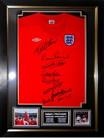 England 1966 World Cup Winners Signed Shirt Presentation