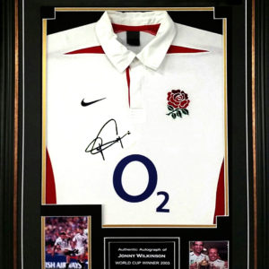 Jonny Wilkinson Signed Shirt Presentation Framed