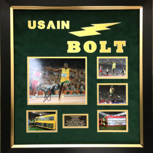 Usain Bolt/Mo Farah Signed Presentation