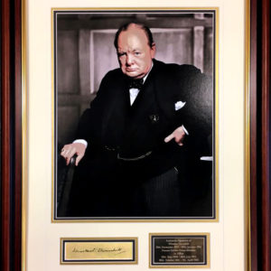 Winston Churchill Signed Presentation Framed