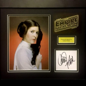 Star Wars Carrie Fisher Princess Leia Signed Presentation