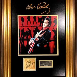 Elvis Presley Signed Presentation