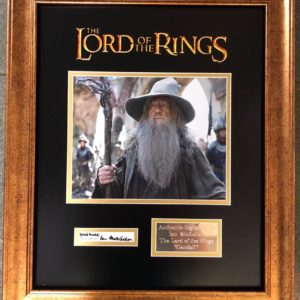 Ian McKellen – Gandalf The Lord of the Rings Signed Presentation Framed