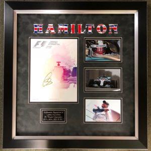 Lewis Hamilton Signed Presentation
