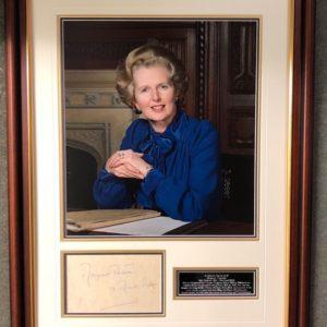 Margaret Thatcher (1925-2013) Signed Presentation Framed