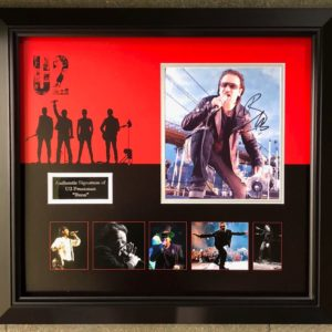 Bono – U2 Signed Presentation Framed