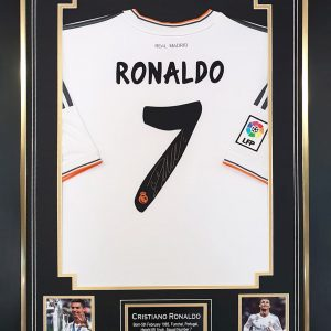 Cristiano Ronaldo Real Madrid Signed Shirt Presentation