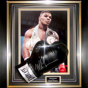 Mike Tyson Signed Boxing Glove Presentation Framed