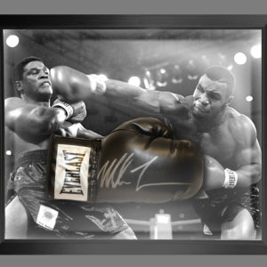 Mike Tyson Signed Boxing Glove Presentation Framed