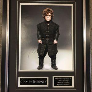 Peter Dinklage – Tyrion Lannister Game of Thrones Signed Presentation Framed